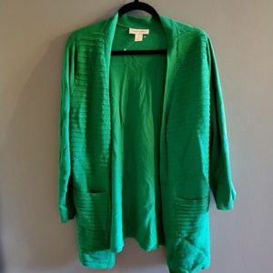 NWOT Christopher & Banks GREEN Cardigan
